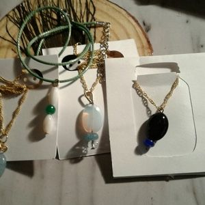 Gemstone jewelry necklaces